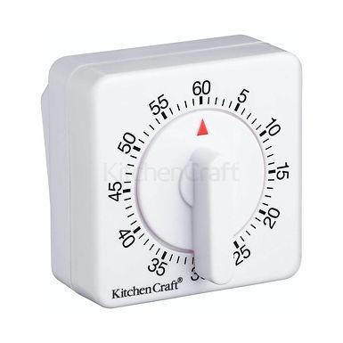 KC MECHANICAL TIMER 60 MINUTE WHITE