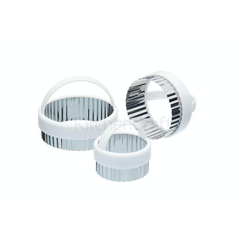 KC FLUTED PASTRY CUTTERS 3PC