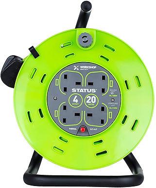 """50 Mtr - 13 amp - """"M Frame"""" - 4 Socket Outlet"""