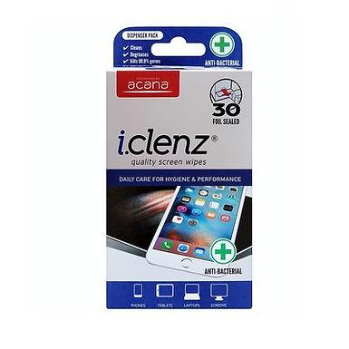 Acana iClenz Antibacterial Screen Wipes