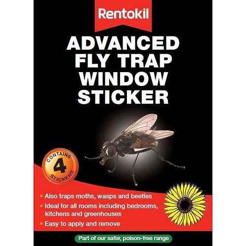 Rentokil Advanced Fly Trap ( Window Sticker)  4's