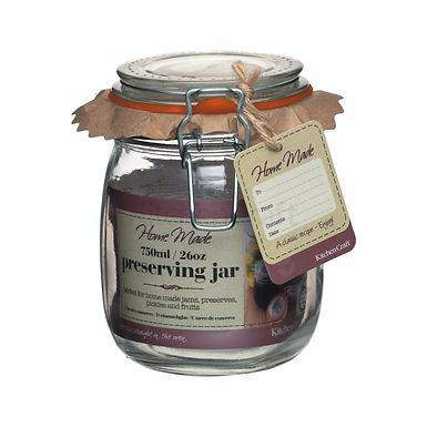 HM PRESERVING JAR 750ML (26OZ) GLASS