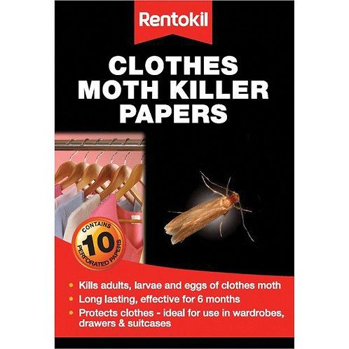 Rentokil Clothes Moth Killer Papers  10pk