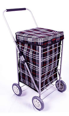 4 WHEEL CAGE SHOPPING TROLLEY