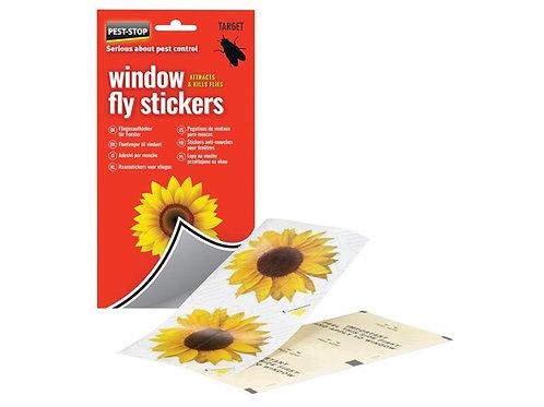 Pest Stop Window Fly Stickers 4pk