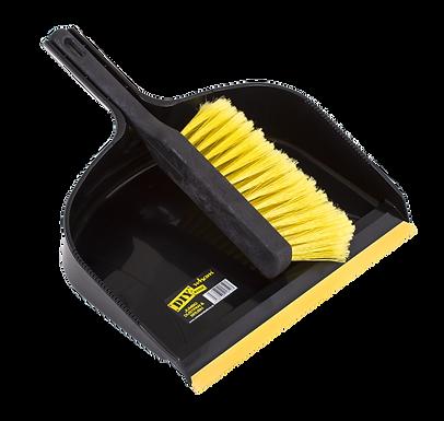 Eden Jumbo Dustpan & Brush Set Black/Yellow