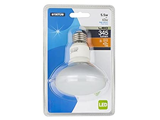 5.5w = 60w = 345 lumens - Status - LED - R80 - Reflector Spot - ES - 1 pk