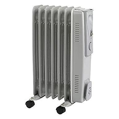 7 Fin - Oil Filled Radiator - 1500w - Grey - 3 Heat Settings