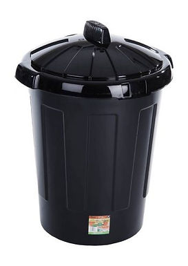 Eden 80L Dustbin Black