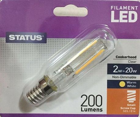 2w = 30w = 280 lumens - Status - Filament LED - Cookerhood - SES