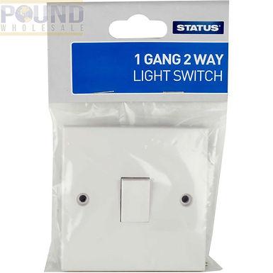 1 gang - 2 way - Light Switch - White - Status - 1 pk