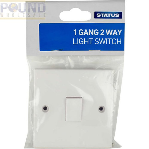 1 gang - 2 way - Light Switch - White - Status - 1 pk