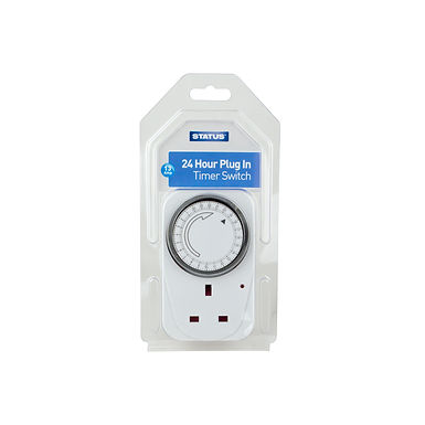 "24 Hour - Timer Switch - ""Standard Size"" - White - Status - 1 pk"