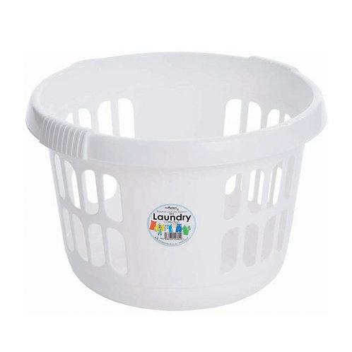 Casa Round Laundry Basket Ice White
