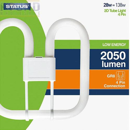 28w = 138w - Status - Low Energy - 2D - Cool White - 4 Pin - 1 pk box