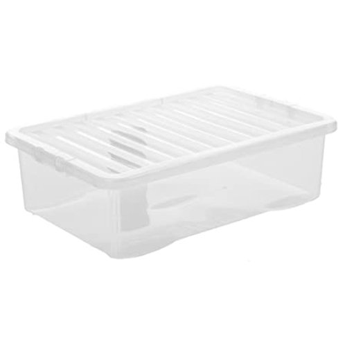 Crystal U/bed Box & Lid Clear