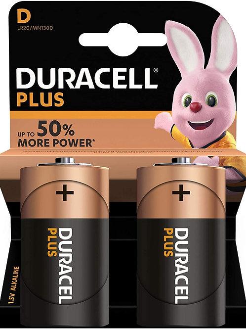 Duracell MN1300 / D / 1.5V  Batteries 2pk