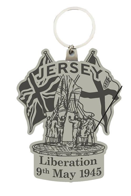 Liberation Pewter Keyring