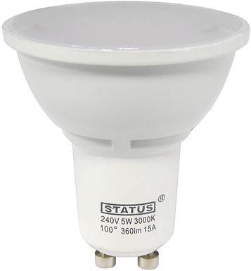 3w = 35w = 240 lumens - Status - LED - GU10 - 100� - Pearl
