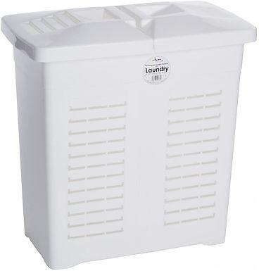75L Rectangular Laundry Hamper White  (11765)