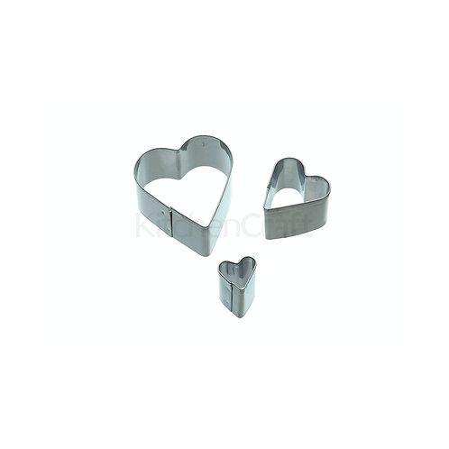 SDI MINI FONDANT CUTTER 3PC S/S HEART