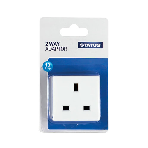 2 way - Non-Fused - Adaptor - White - Status - 1 pk