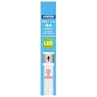 4ft / 1200mm - 18w = 1500 lumens - Status - LED - T8 Tube - Pearl