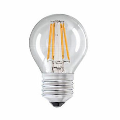 4w = 40w = 470 lumens - Status - Filament LED - Round - ES - Clear