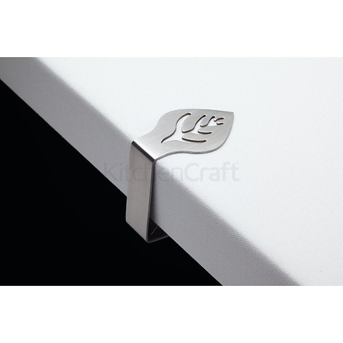 KC TABLE CLOTH CLIPS 4PC S/STEEL LEAF