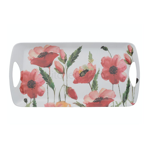 CT WATERCOLOUR POPPY SML LUX HANDLD TRAY
