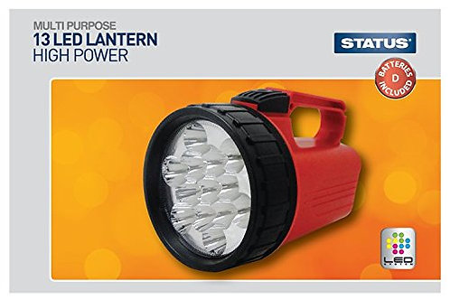 13 LED - Lantern - 4 x D batteries (Included) - Red - Status - 1 pk