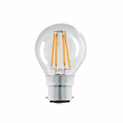4w = 40w = 470 lumens - Status - Filament LED - Round - BC - Clear
