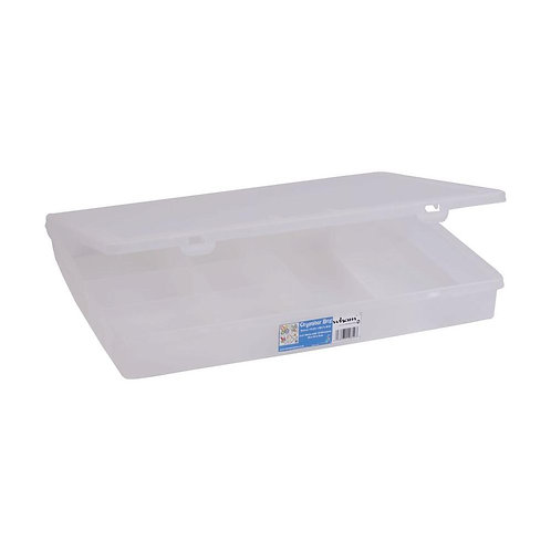 5.01 Organiser 38cm with 10 Divisions Clear