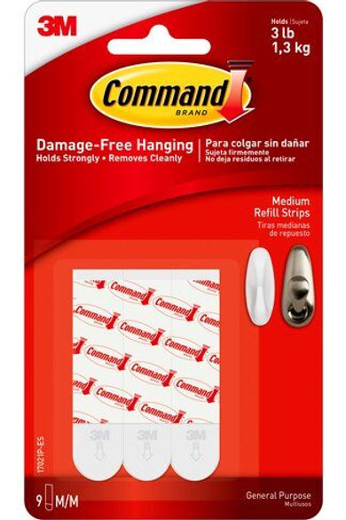 Command Medium Adhesive Replacement Strips 10pk