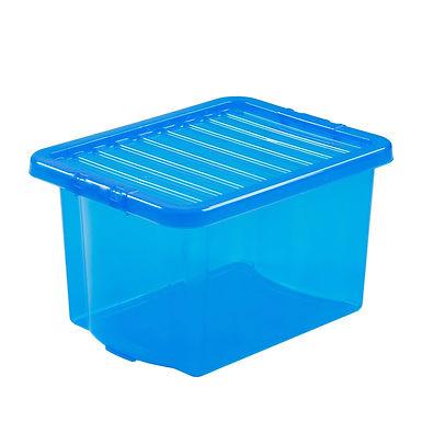 Crystal Box & Lid Tint Blue