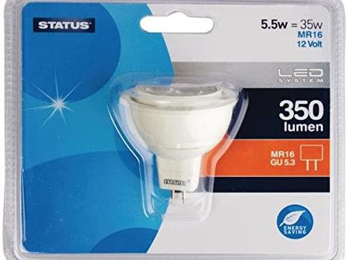 5.5w = 35w = 350 lumens - Status - LED - MR16 - 36� - PA - Pearl - 1 pk