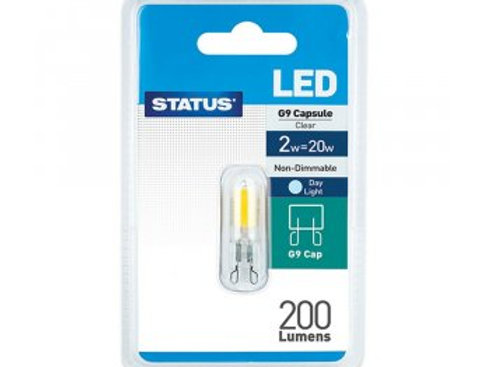 2w = 20w = 200 lumens - Status - LED - G9 - 24v - Day Light - 1 pk
