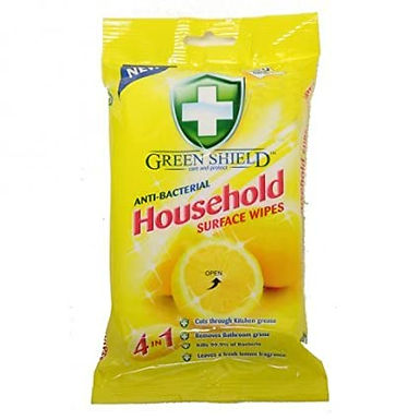Green Shield Anti-Bacterial Household Wipes 70 Per Pack