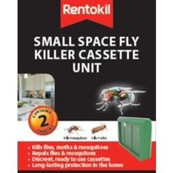 Rentokil Smal Space Fly Killer Cassette Unit  Twin Pack