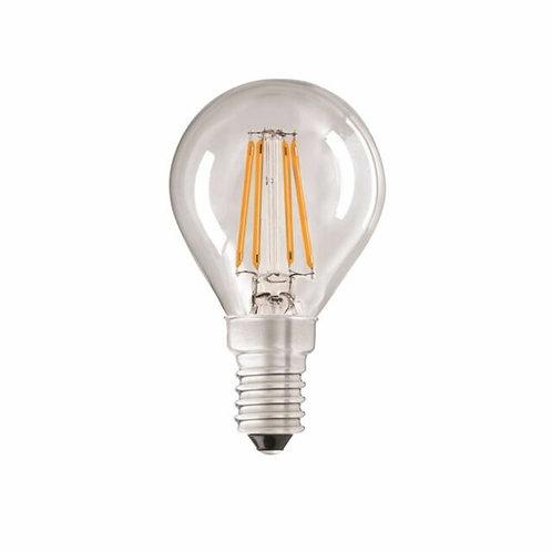 4w = 40w = 470 lumens - Status - Filament LED - Round - SES - Clear