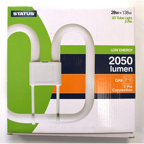 28w = 138w - Status - Low Energy - 2D - Warm White - 2 Pin - 1 pk box