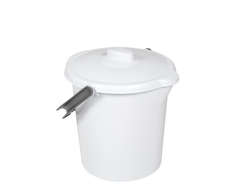16L Bucket and Lid Ice White
