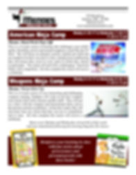 Ninja Camp Curriculum Flier