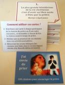 100 cartes avec citations pour encourager la prière