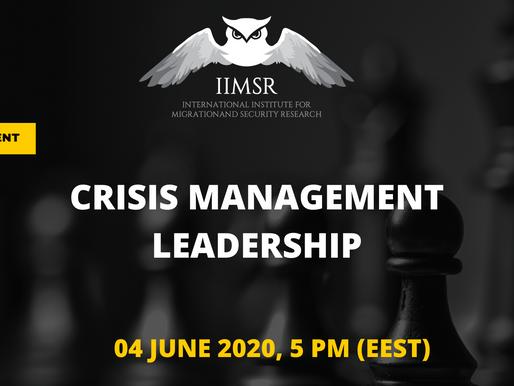 "WEBINAR: ""Crisis Management Leadership"""