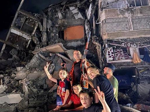 Hamas victory pictures or Gaza destruction?