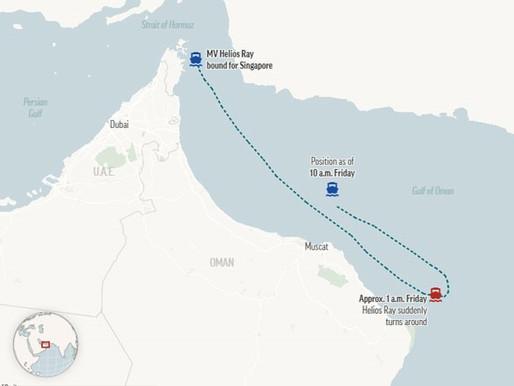 Damage to an Israeli Merchant Ship Near Iran
