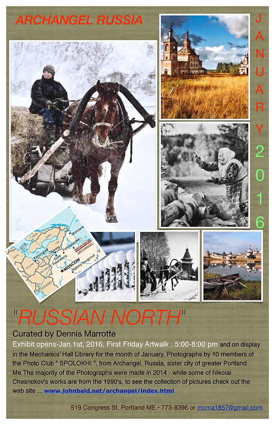 RUSSIAN NORTH photos, MCMA, First   Jan.