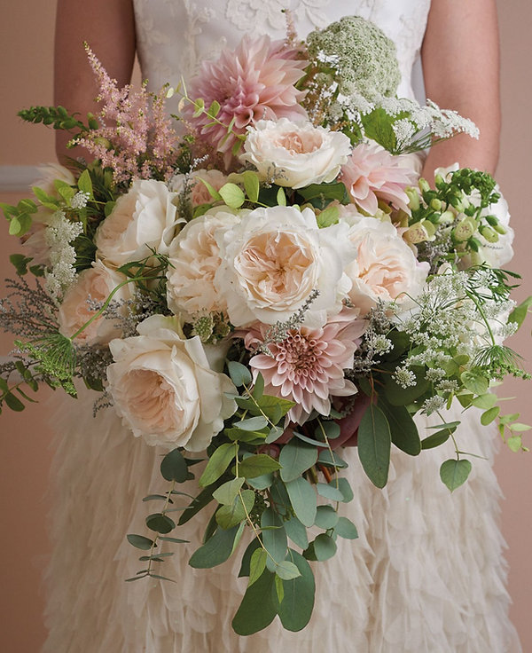 Purity English Garden Rose Bouquet