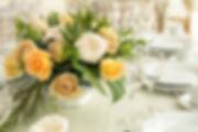 Golden Mustard Deluxe Garden Rose arrangement
